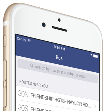 DC Metro and Bus App - Home